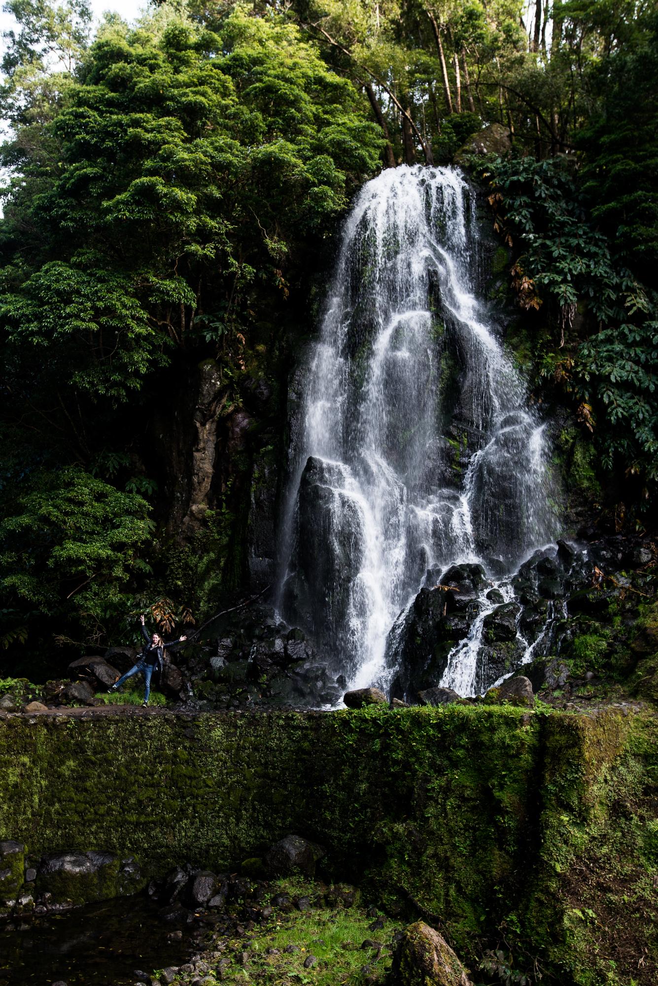 Ribeira dos Caldeiroes vízesés az Azori-szigeteken