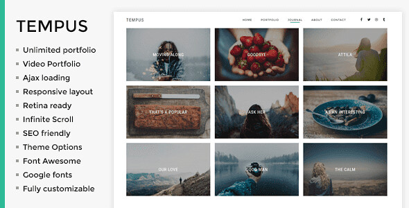 Tempus WordPress Theme free download