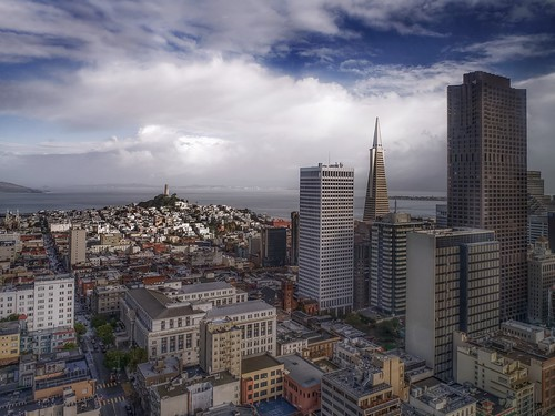 travel sonya7r2 sanfrancisco architecture day clouds aerial california sky cityscape view city