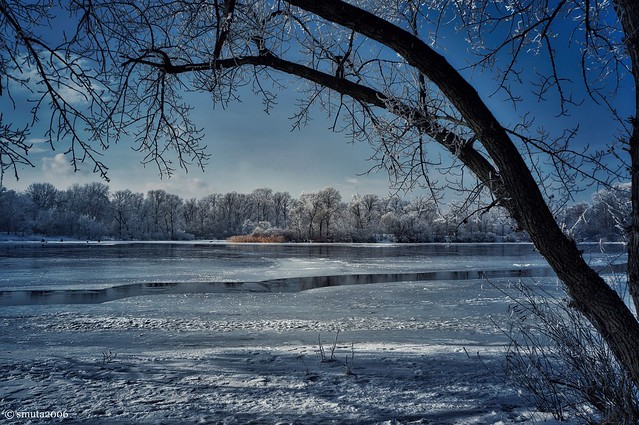 View Across the River in Winter II