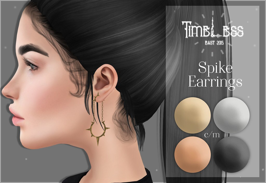 Timeless - Spike Earrings - SecondLifeHub.com