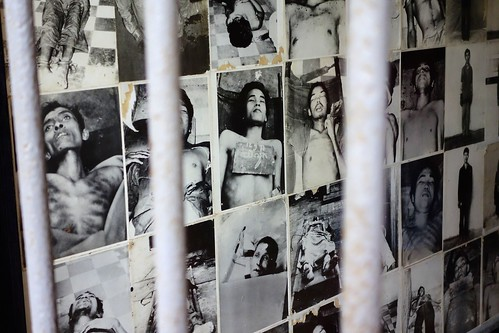 Pictures of prisoners at Tuol Sleng