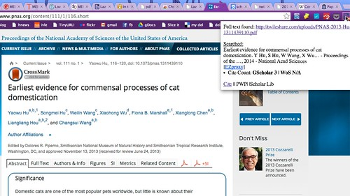 Earliest evidence for commensal processes of cat domestication