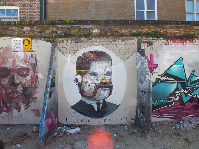 Pixel Pancho street art in Shoreditch, London