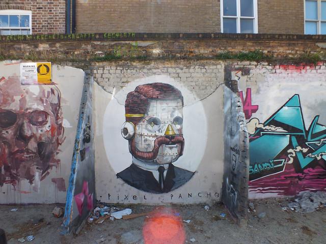 Pixel Pancho street art in Shoreditch, London