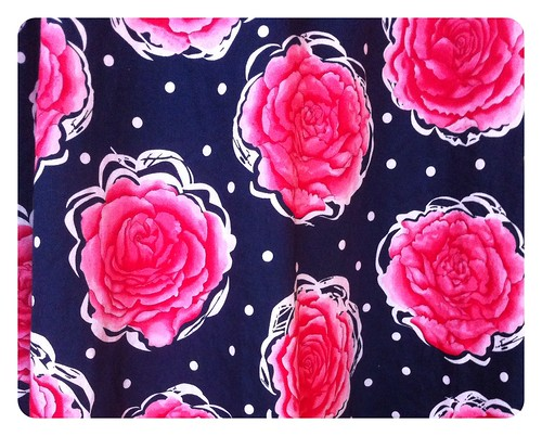 Floral skirt fabric