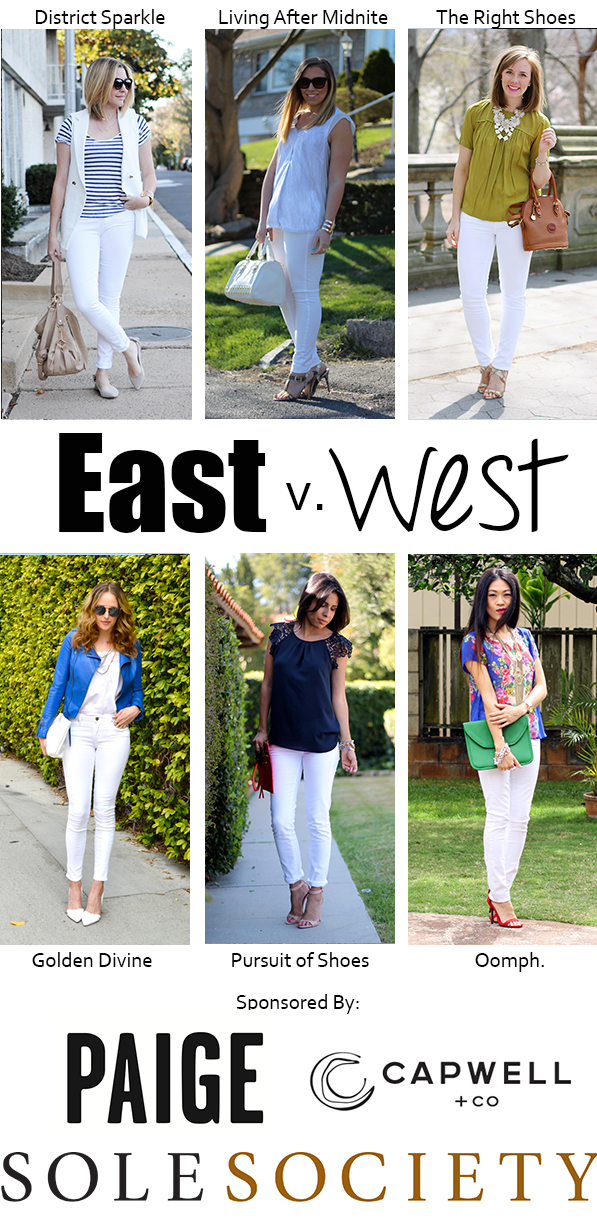 East v West White Denim on Living After Midnite