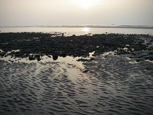 夕陽下的黃金沙灘,超美!圖片提供:沙浪