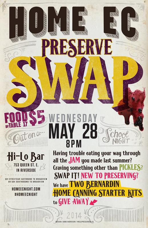 HomeEcNight   May 28th, 2014   Preserve Swap homeecnight