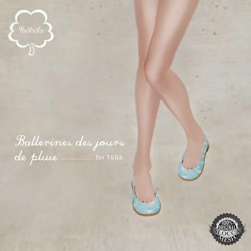 NuDoLu Ballerines des jours de pluies AD