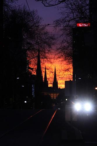 Sunrise on Bourke Street
