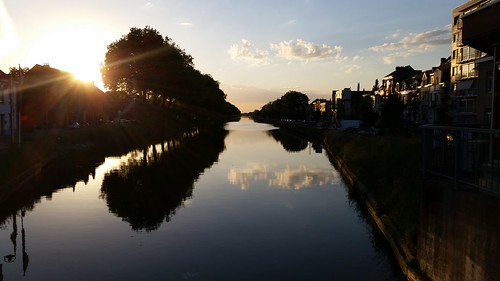 sunset mechelen vaart malines vlaanderen leuvensevaart leuvense auwegemvaart plaisancebrug 190514