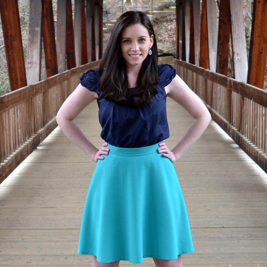 Self-drafted Half-circle Skirt