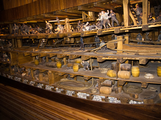 Vasa galleon cross-section