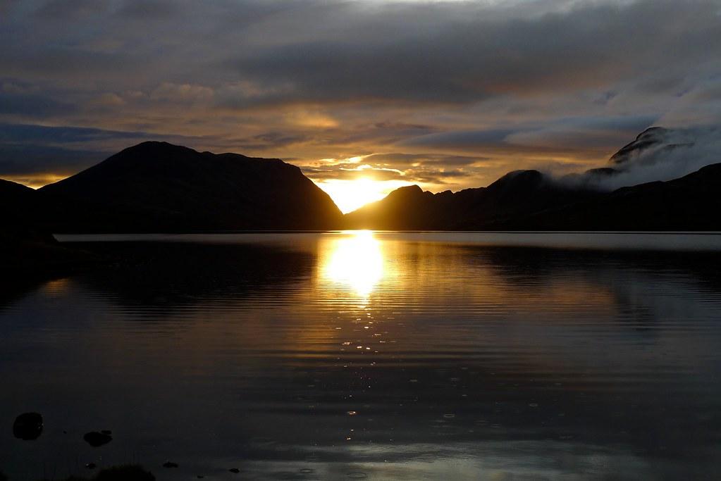 Lochan Fada at sunset