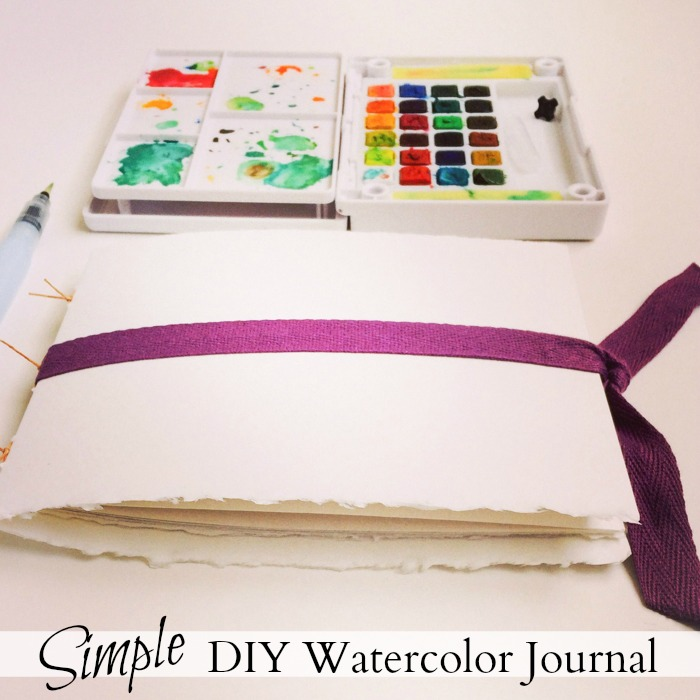 Simple DIY Watercolor Journal