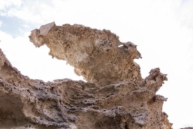 Large overhanging rock