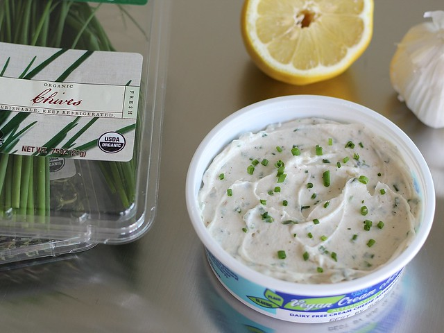 "Garlic and Herb Vegan ""Cream Cheese"""