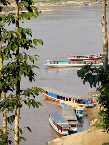 Barcas en el Mekong