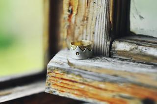 brass&sterling ring
