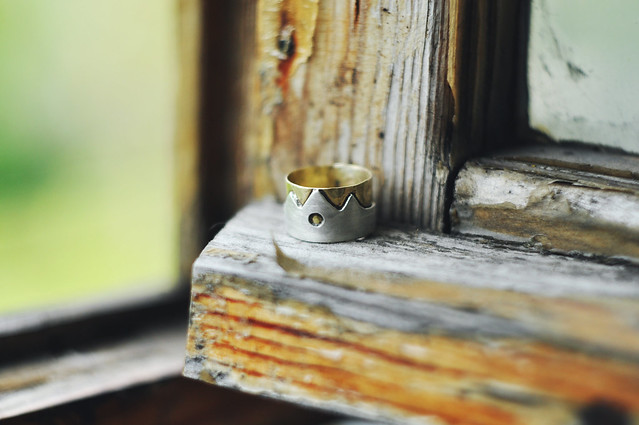 brass&sterling ring