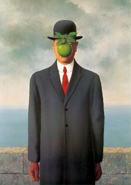 René Magritte, The Son of Man, 1964, Restored by Shimon D. Yanowitz, 2009 רנה מאגריט, בנו של אדם, 1964, רסטורציה ע