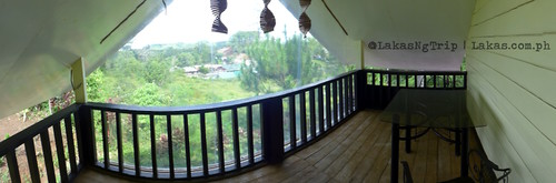 Panoramic shot of the terrace. DDD Habitat Inc., in Lorega, Kitaotao, Bukidnon