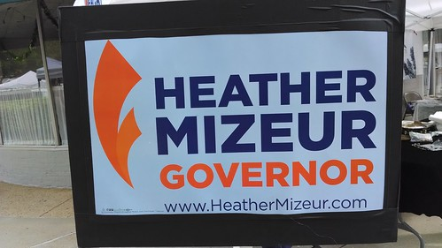 Heather Mizeur Table at the 2014 Greenbelt Green Man Festival