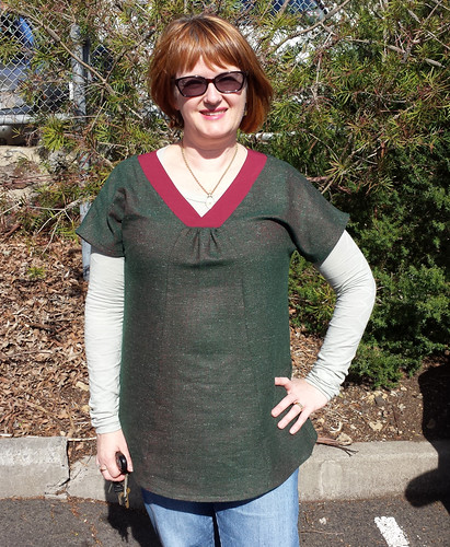 Liesl & Co Cappucino tunic in wool.