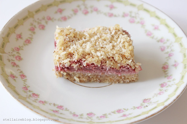vegan raspberry bar
