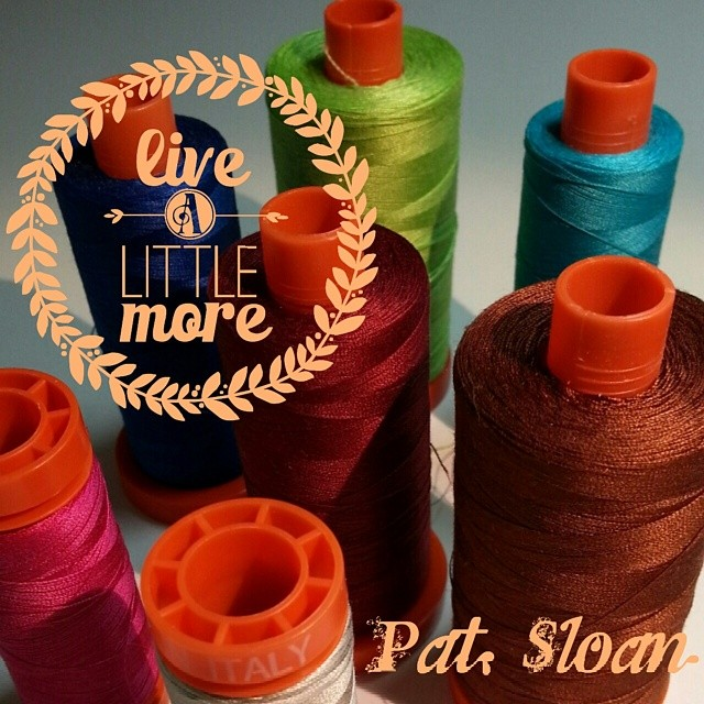 On my machine right n now... Live a little more with Aurifil♥♥♥