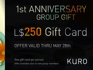 Kuro 1st Anniversary
