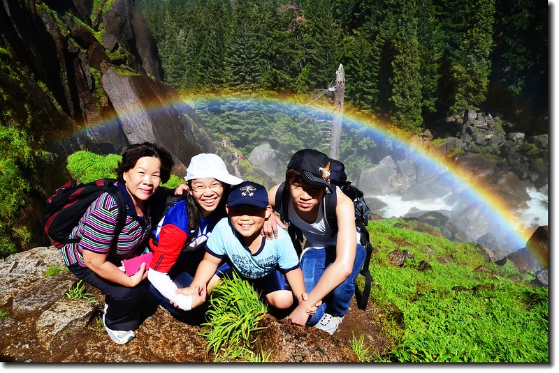Taken under rainbow, Vernal Fall 3