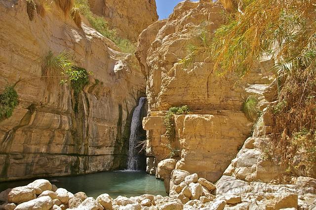 view waterfall 0005 Nahal Arugot, Dead Sea, Israel