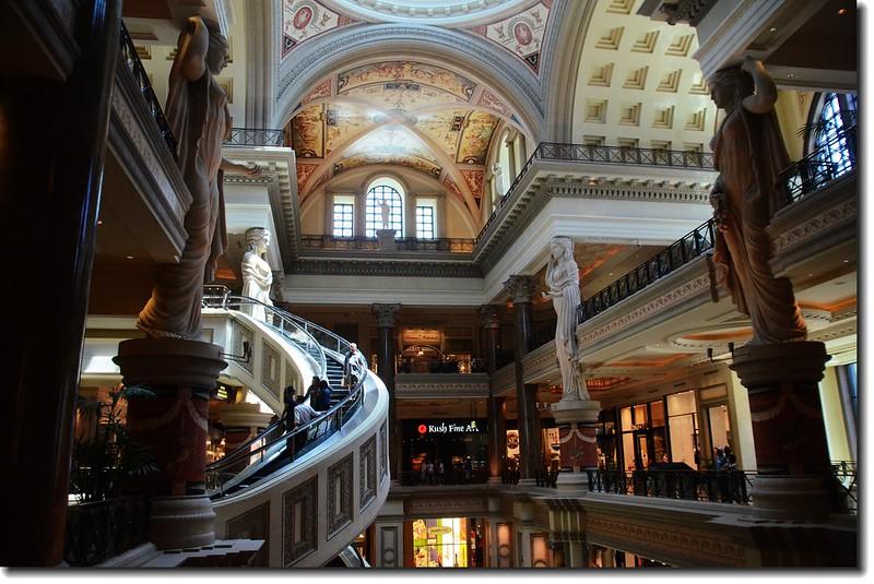 Spiral escalators at the Forum Shops, Las Vegas
