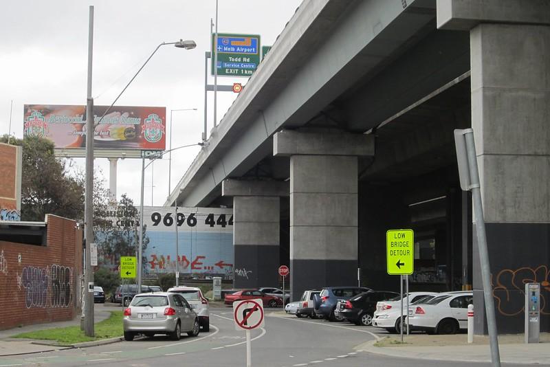 Beside the Westgate Freeway