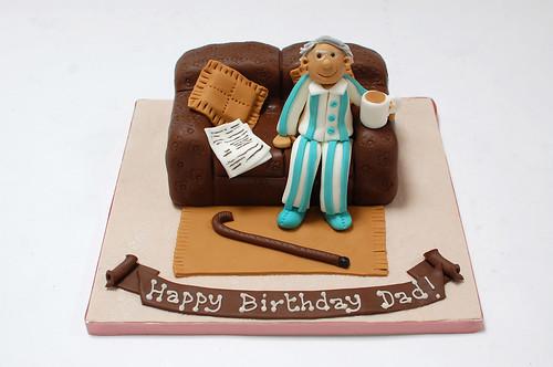 Old Man And Sofa Cake Beautiful Birthday Cakes