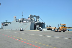 MV Cape Ray takes on chemical weapons.