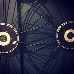 Film reels on a old school movie projector