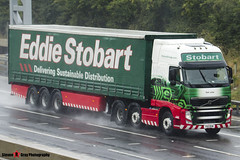 Volvo FH 6x2 Tractor with 3 Axle Curtainside Trailer - PX11 BXW - H4658 - Gail Julia - Eddie Stobart - M1 J10 Luton - Steven Gray - IMG_6919