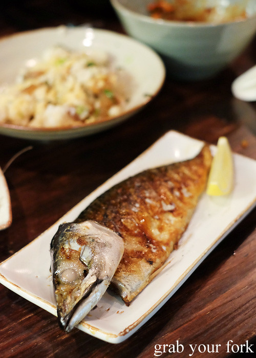 Goduenger crispy skin cured mackerel at Kim Restaurant, Potts Point