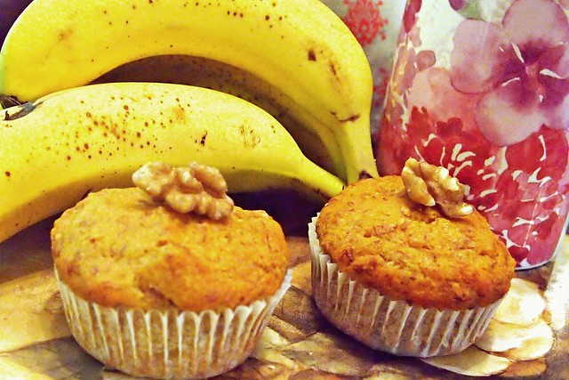 Banana, Maple, Walnut Muffins (Vegan & Gluten Free)