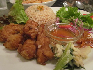 Vegan Healing Cafe - Fried Soy Meat Plate
