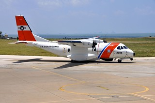 Coast Guard Air Station Corpus Christi received its first of three HC-144 Ocean Sentry aircraft, June 12, 2014. This marks the beginning to the modernization of the Coast Guard's medium range fixed wing maritime law enforcement, and search and rescue fleet in South Texas. (U.S. Coast Guard photo)