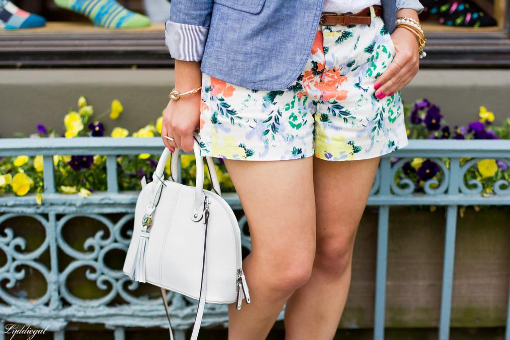 Floral shorts, chambray blazer, panama hat-4.jpg