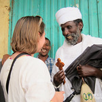 Audrey Gets a Blessing from an Ethiopian Priest - Gondar, Ethiopia