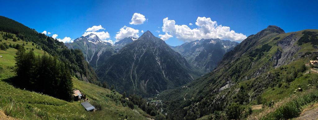 Vue pano des Deux Alpes