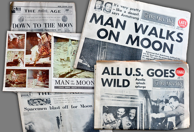 Man landed on the moon. from Flickr via Wylio