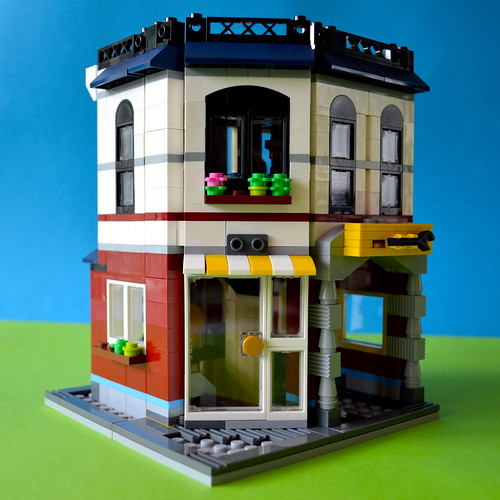 LEGO auto-repair shop front