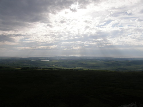 Lancaster, The Lune and Morecambe from Clougha Pike